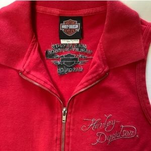 Harley Davidson zip front red athletic tank